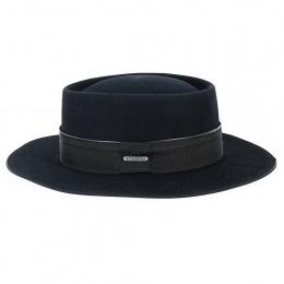 Chapeau Fedora Ankara Feutre Poil Noir - Stetson