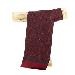 Silk scarf Léonard Bordeaux - Traclet