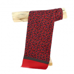 Foulard de Soie Léonard Rouge - Traclet