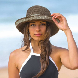 Chapeau Breton Femme Très Chic Marron & Ivoire- Emthunzini Hats