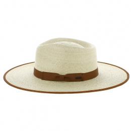 Chapeau Fedora Rancher Paille Camel - Brixton
