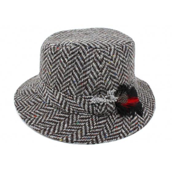 Bob laine Chevron Gris Noir- Hanna hats