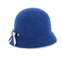 Chapeau Cloche Royal Feutre Bleu - Traclet