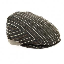 Flat brown striped cap