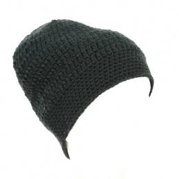 Bonnet Grosses Mailles Acrylique Noir - Traclet