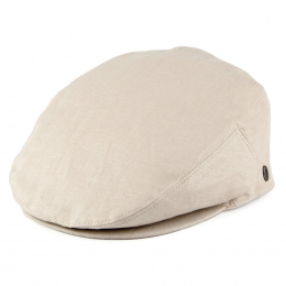 Casquette Plate Lin Naturel- Traclet