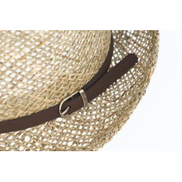 Trilby Linz Natural Straw Trilby Hat - Traclet