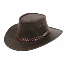 Chapeau cuir australien Wallaroo Oil - Jacaru
