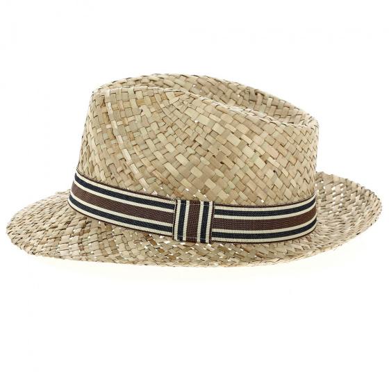 Chapeau Fedora Dan Paille Naturelle - Traclet