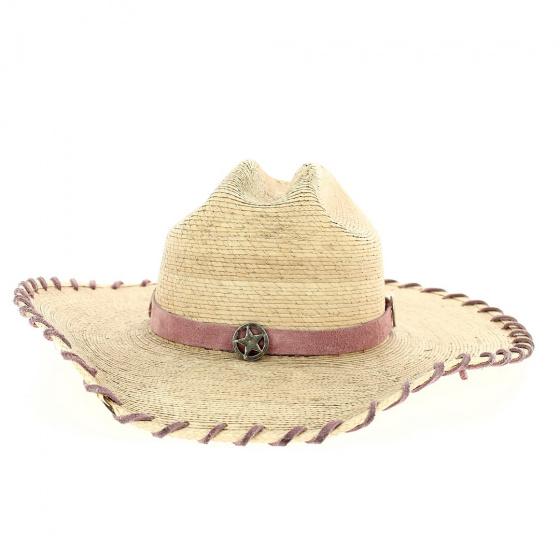 Chapeau Cowboy Sweet Sensation Paille Rose - Bullhide