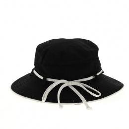 Chapeau coton noir upf50+