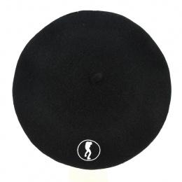 Béret Fantaisie Logo Laine Noir - Traclet