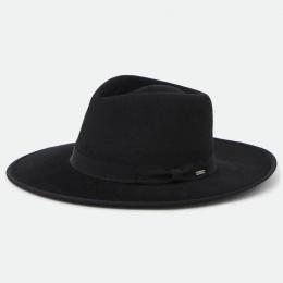 Chapeau Fedora Jo Rancher Feutre Laine Noir - Brixton