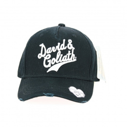 Casquette Baseball David and Goliath Coton Noir - Traclet