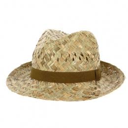 copy of Traveller Gardener Straw Ribbon Hat Brown - Traclet