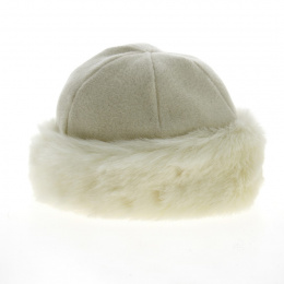 copy of Nayeli Leather & Faux Fur Toque Anthracite- Traclet