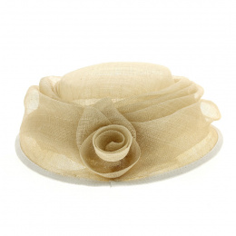 Chapeau Cérémonie Aliska Fleur Paille - Traclet