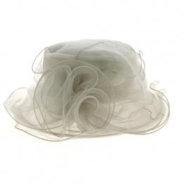 Chapeau de Cérémonie Parissa Blanc - Traclet