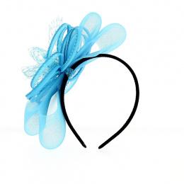 Serre Tête Cérémonie Narcisse Bleu/Rose