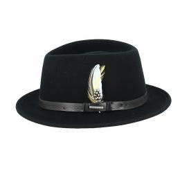 Lindsey Traveller Hat Felt Vitafelt Black - Stetson
