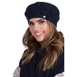 Beret knit gray
