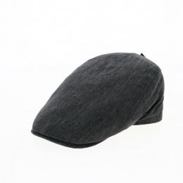 Flat cap grey linen