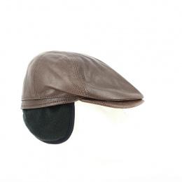 Casquette Gatsby cache oreilles marron - Traclet
