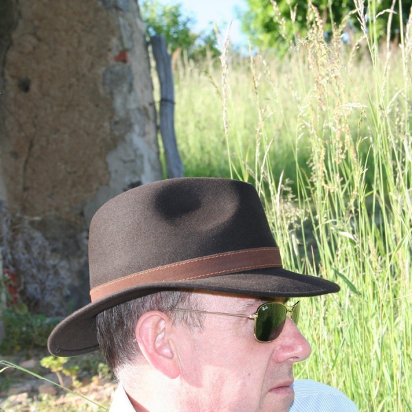 Chapeau Allegro Borsalino Rain Proof marron