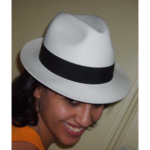 Blues Brothers blanc ruban noir