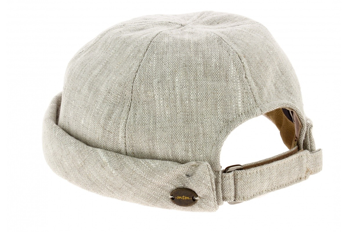 bonnet docker cooper en lin coloris beige de la marque MTM